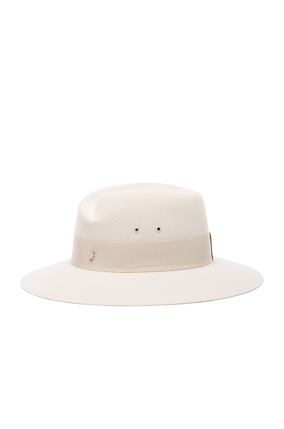 Image 3 of Maison Michel Virginie Hat in White Chalk