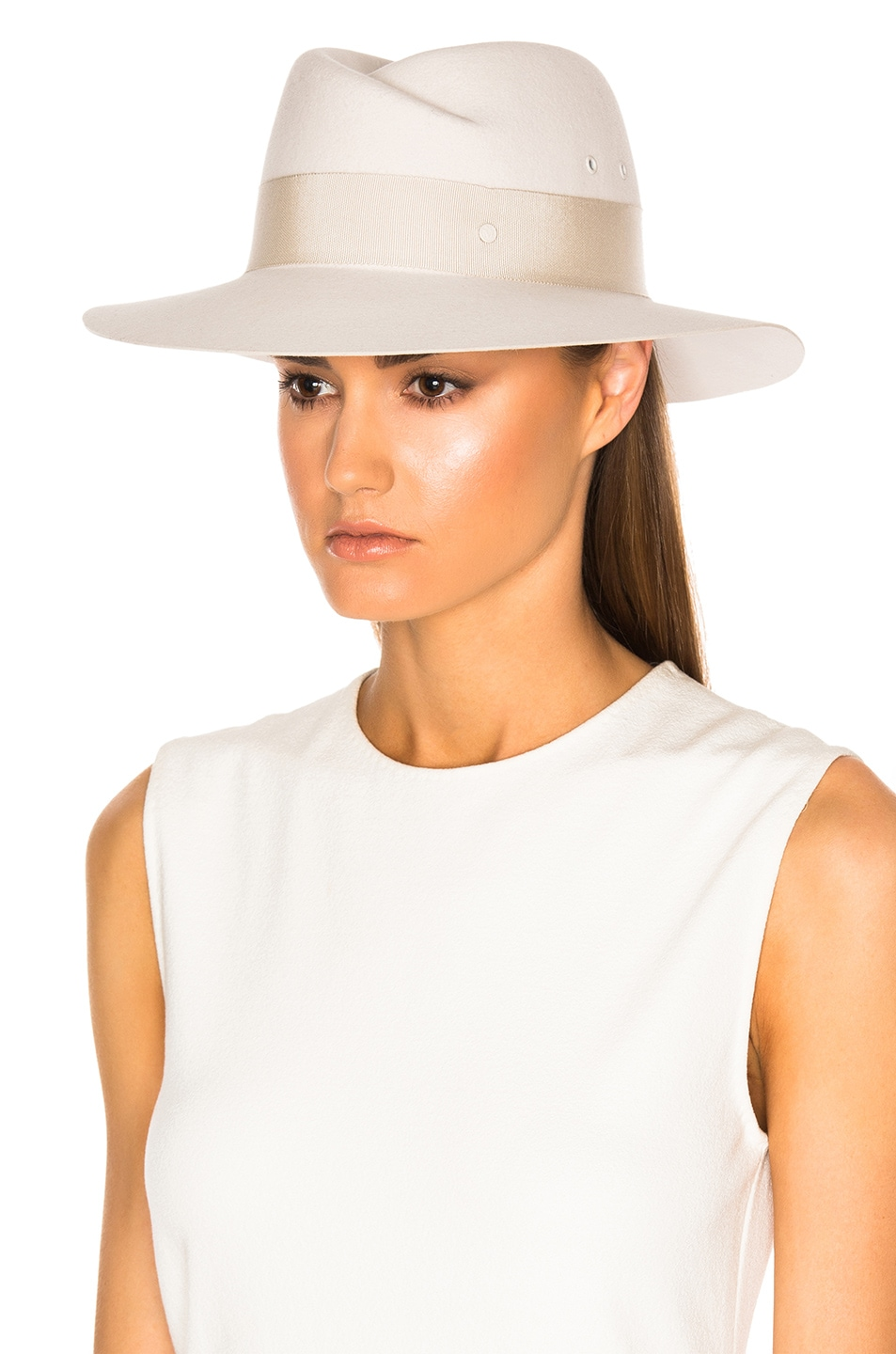 Image 5 of Maison Michel Virginie Hat in White Chalk