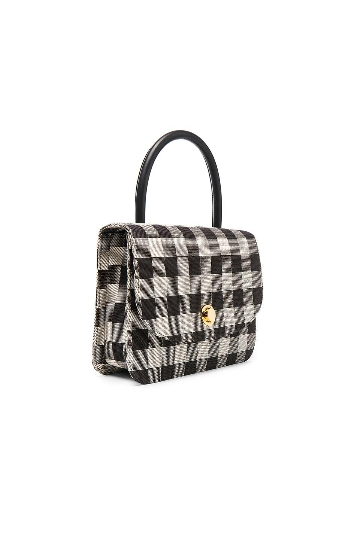 MANSUR GAVRIEL Metropolitan Gingham Top-Handle Bag, Black