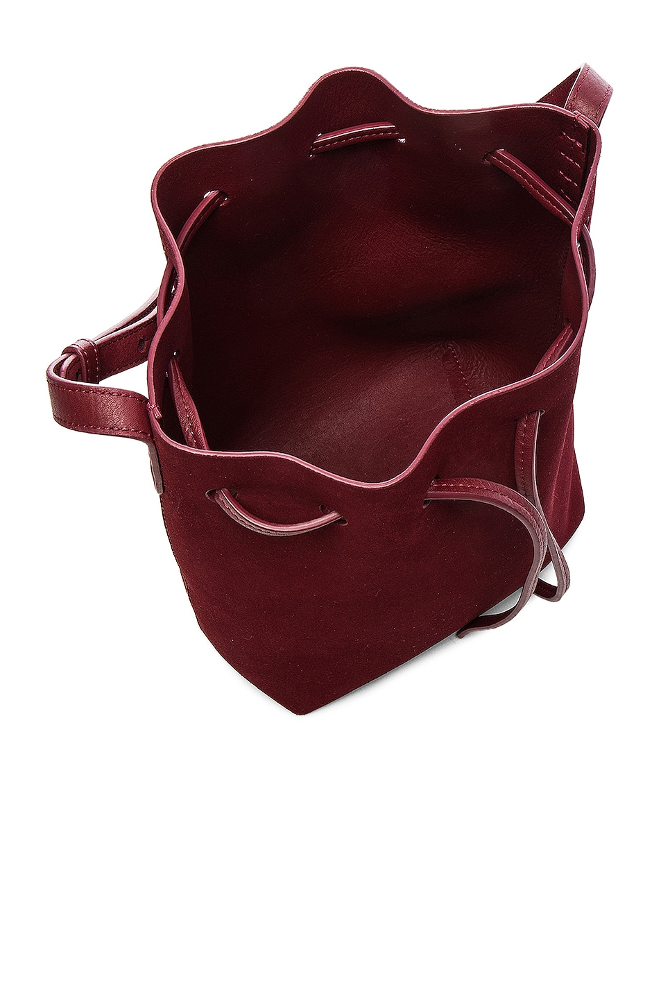 Image 5 of Mansur Gavriel Mini Bucket Bag in Rococo Suede