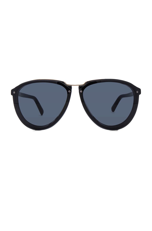 Image 1 of Marni Acetate & Metal Sunglasses in Black