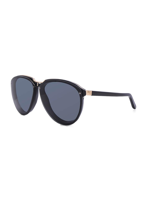 Image 2 of Marni Acetate & Metal Sunglasses in Black