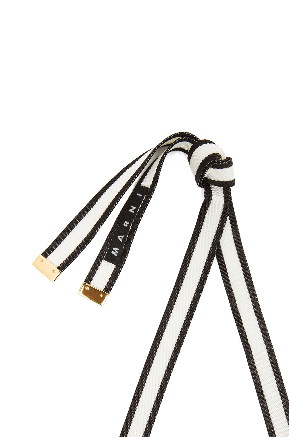 Image 2 of Marni Horn Necklace in Lily White