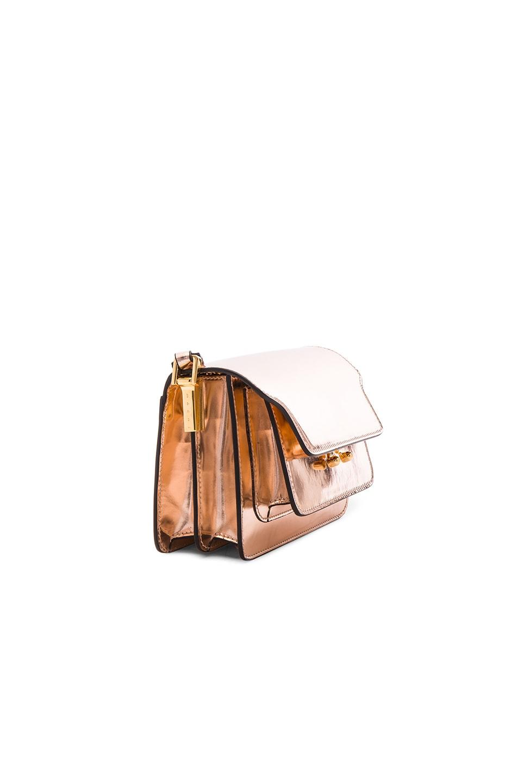 Image 4 of Marni Mini Metallic Trunk Bag in Macaroon