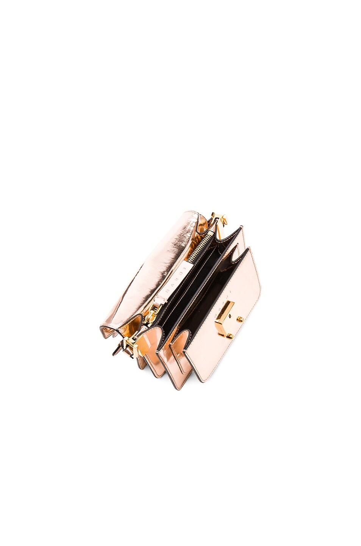 Image 5 of Marni Mini Metallic Trunk Bag in Macaroon