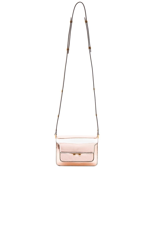 Image 6 of Marni Mini Metallic Trunk Bag in Macaroon