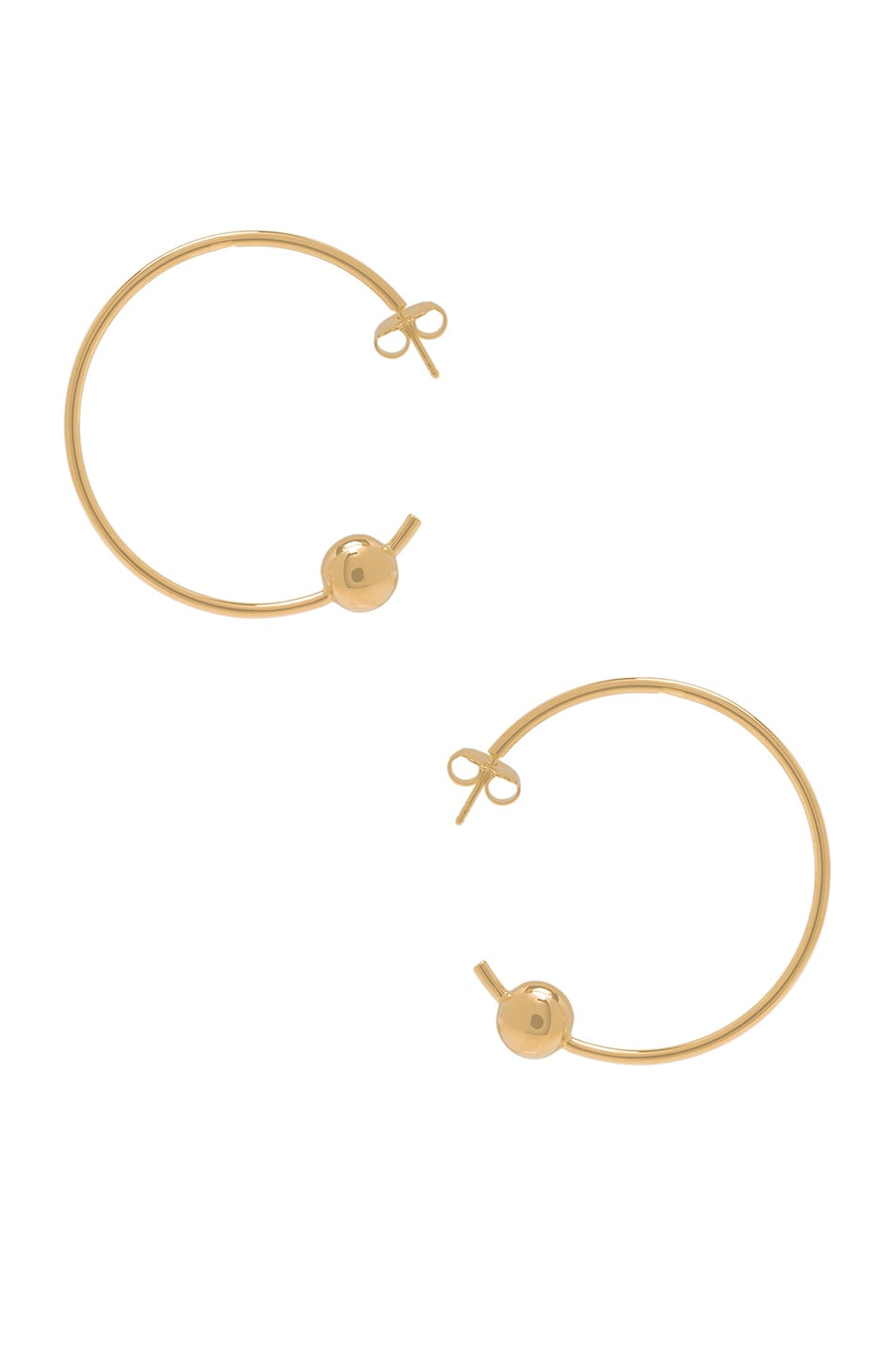 Image 1 of Maria Black Orion Maxi Hoop Earrings in Gold