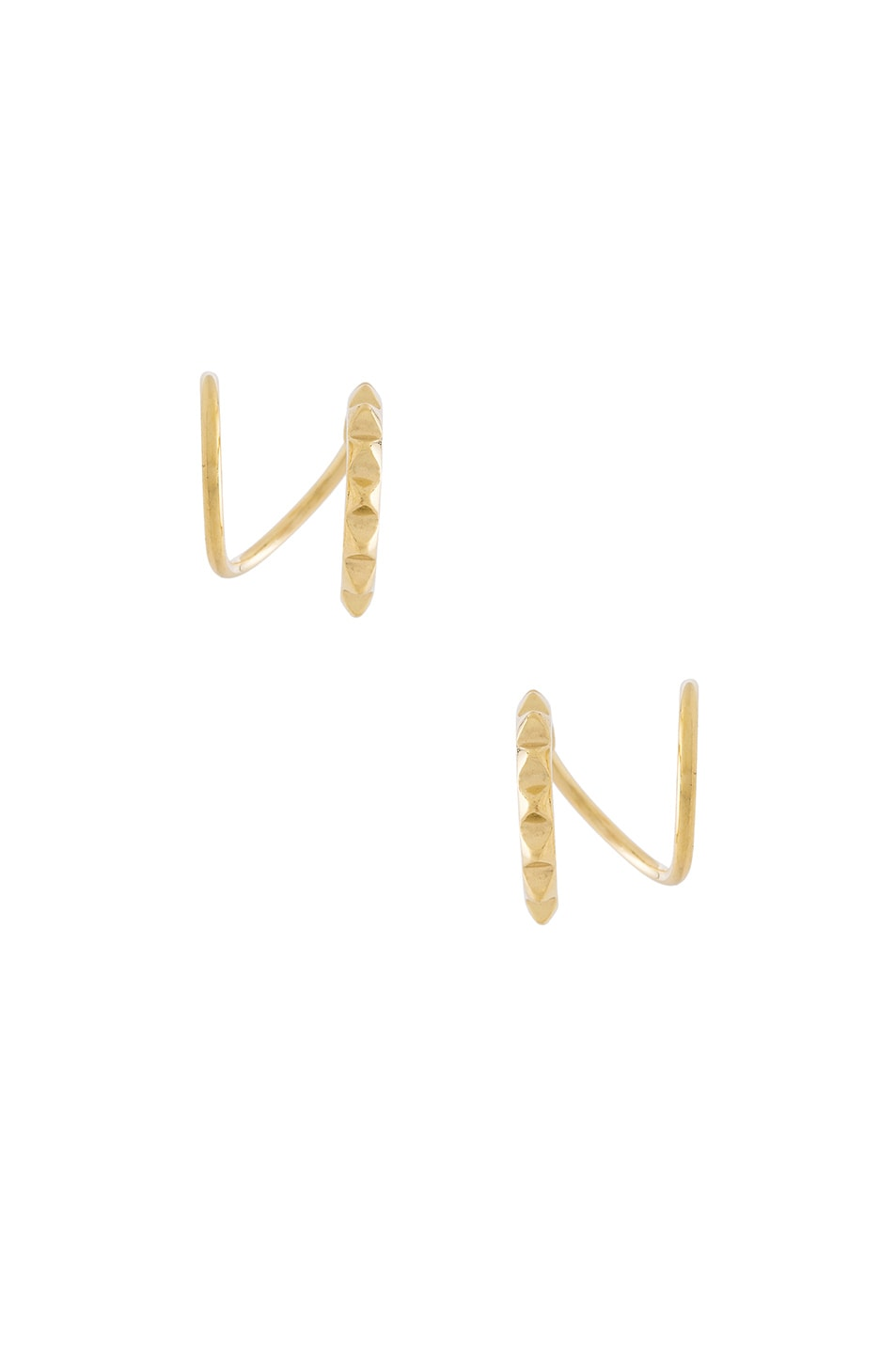 Image 1 of Maria Black 14 Karat Klaxon Twirl Earrings in Gold
