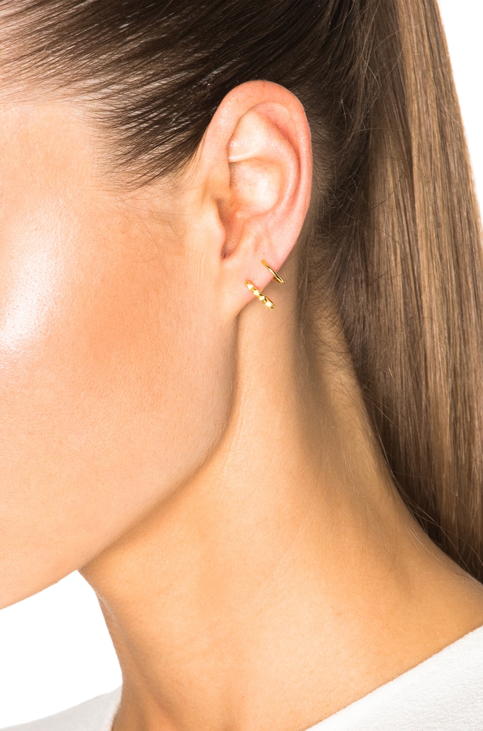 Image 2 of Maria Black 14 Karat Klaxon Twirl Earrings in Gold