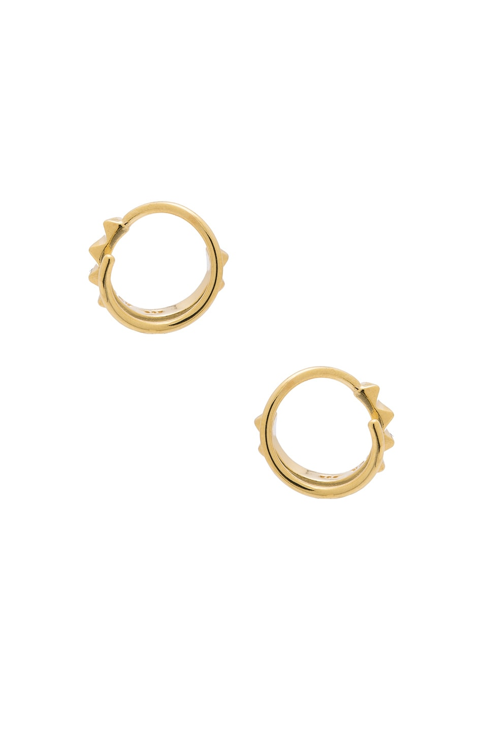 Image 3 of Maria Black 14 Karat Klaxon Twirl Earrings in Gold