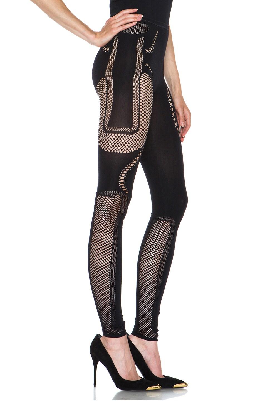 Image 3 of McQ Alexander McQueen Mesh Polyamide-Blend Legging in Black