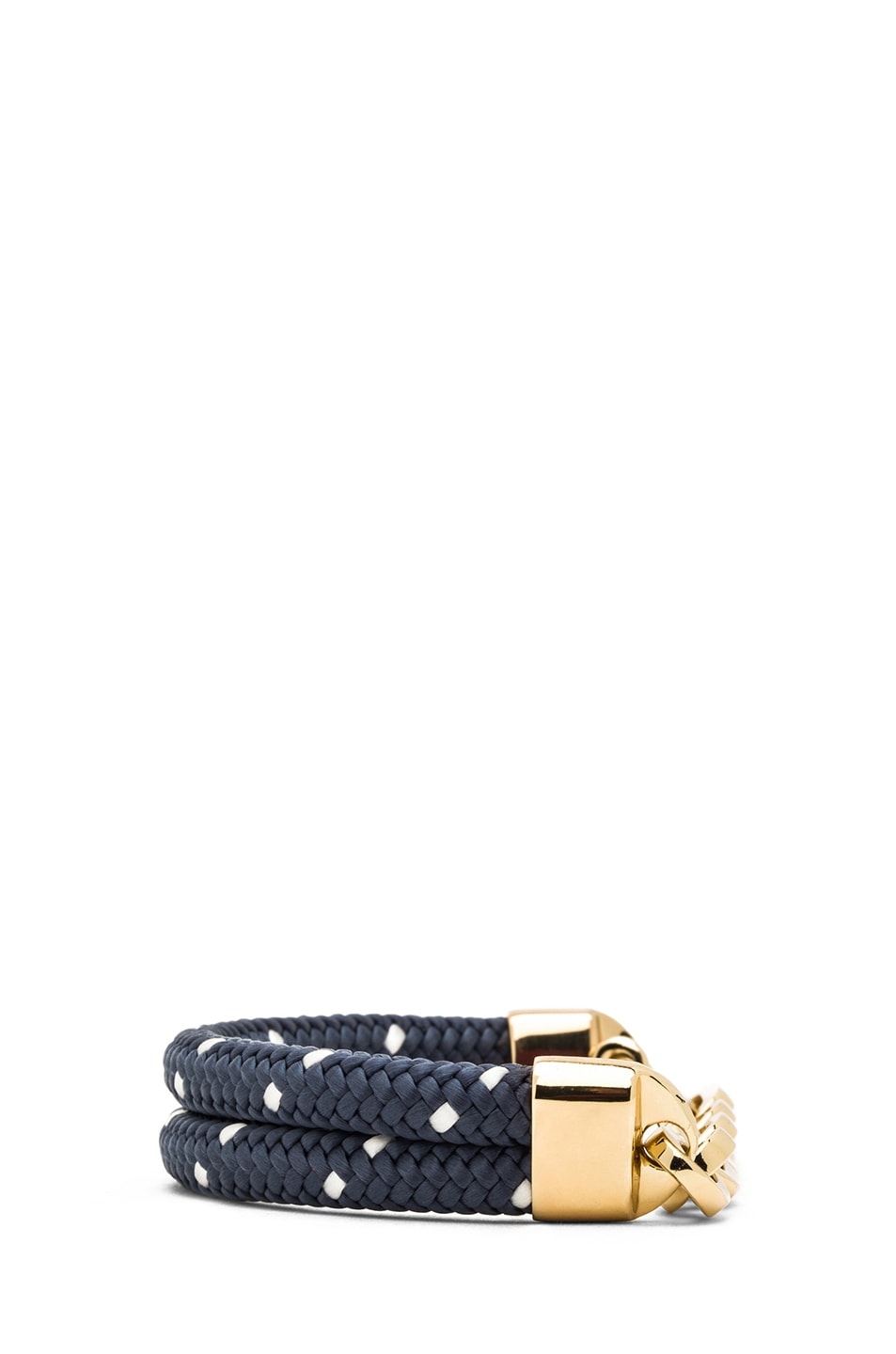 Image 3 of Miansai Karoo Chain on Rope Bracelet in Gold & Navy