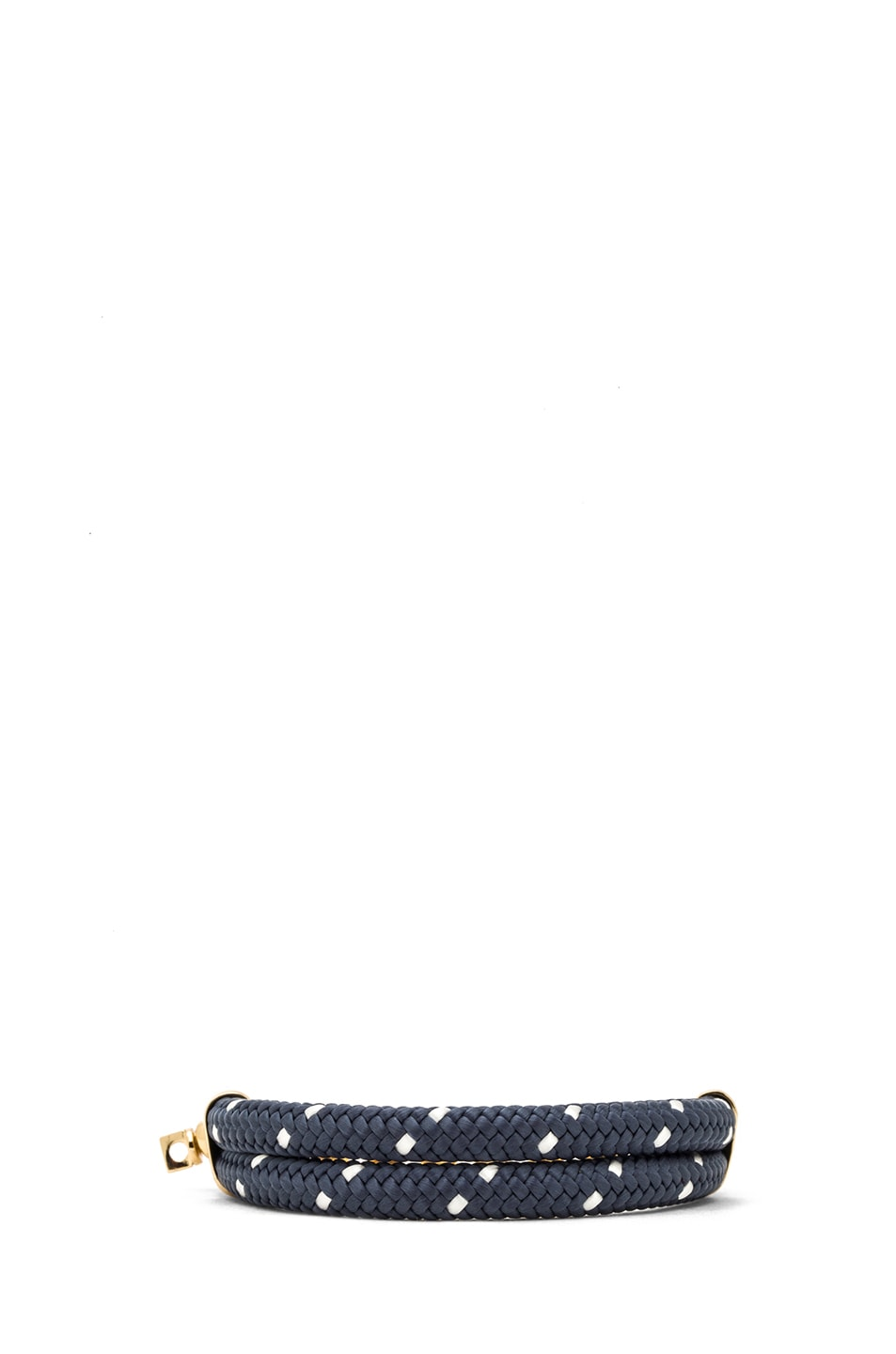 Image 4 of Miansai Karoo Chain on Rope Bracelet in Gold & Navy