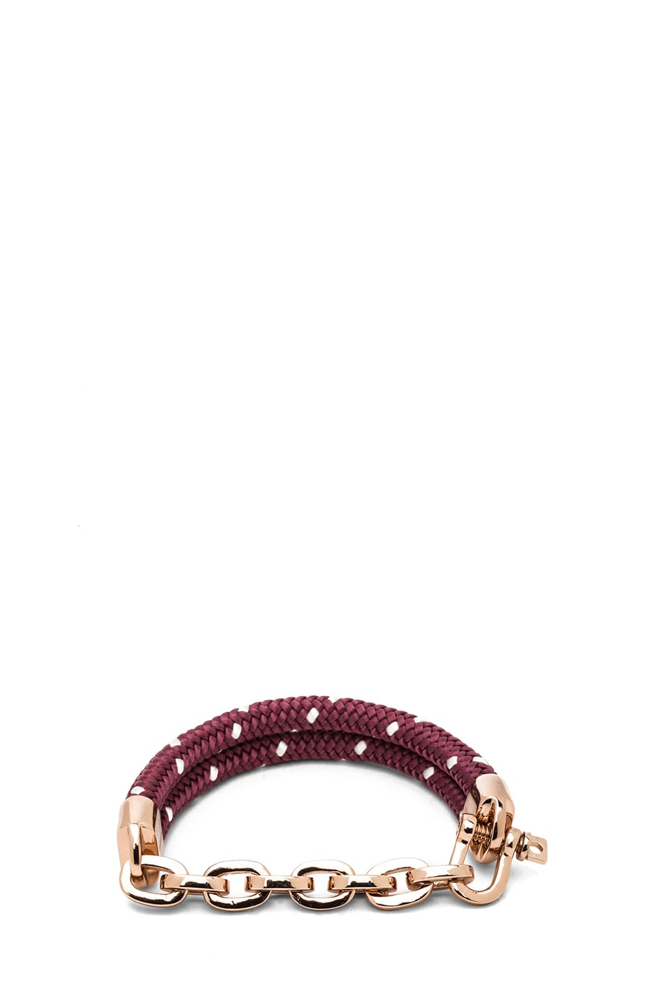 Image 1 of Miansai Karoo Chain on Rope Bracelet in Rose & Burgundy