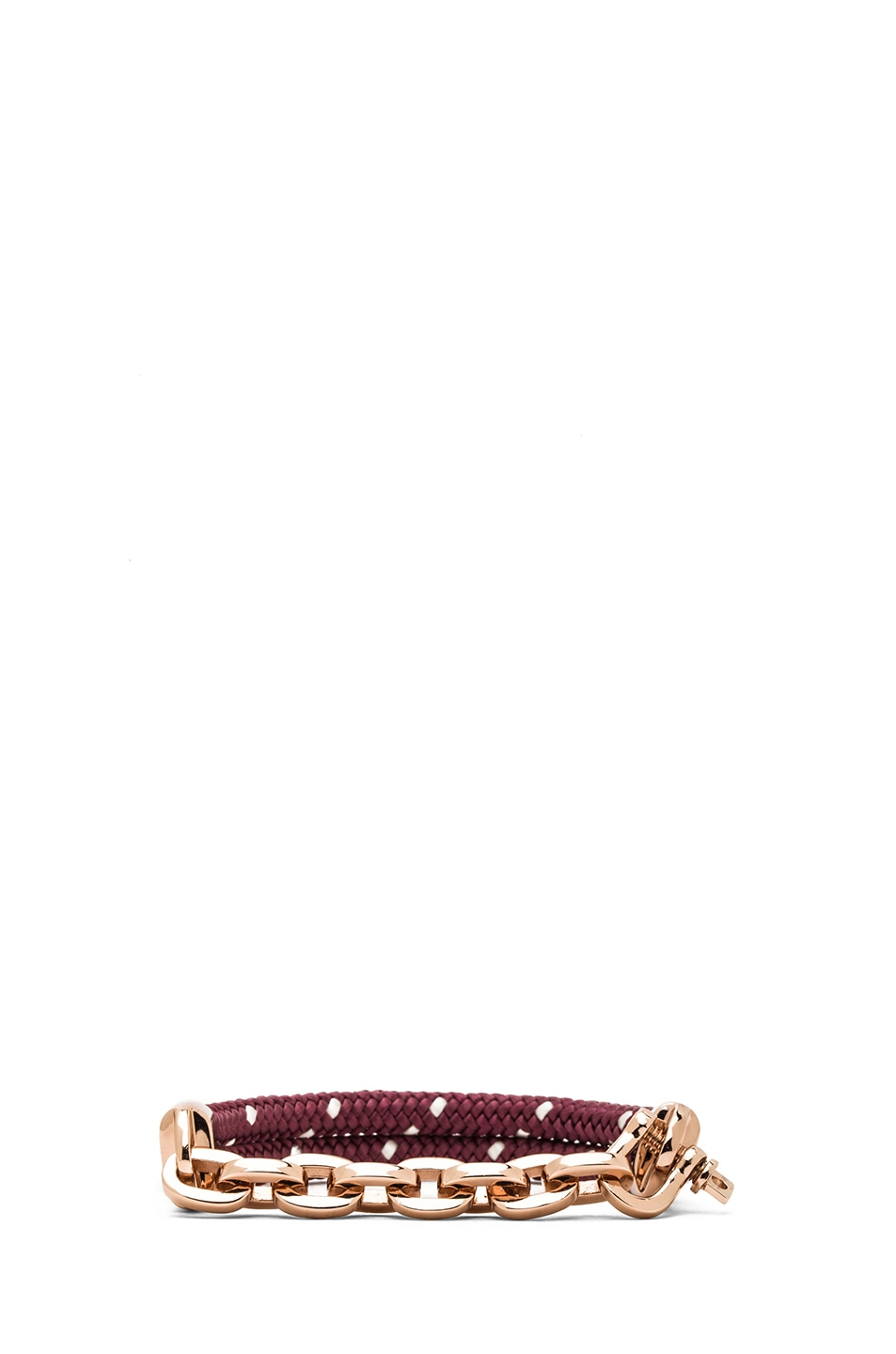 Image 2 of Miansai Karoo Chain on Rope Bracelet in Rose & Burgundy