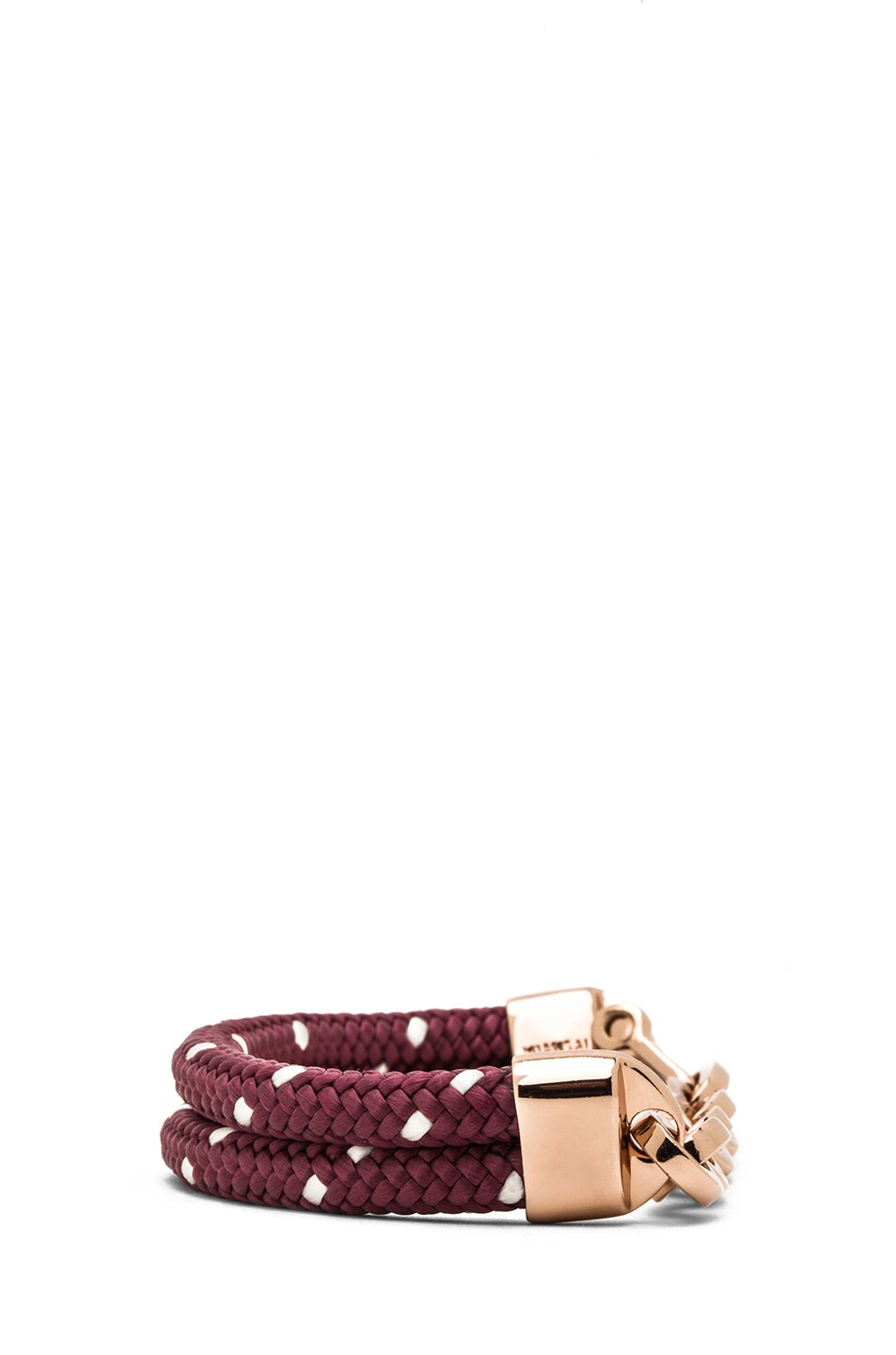 Image 3 of Miansai Karoo Chain on Rope Bracelet in Rose & Burgundy