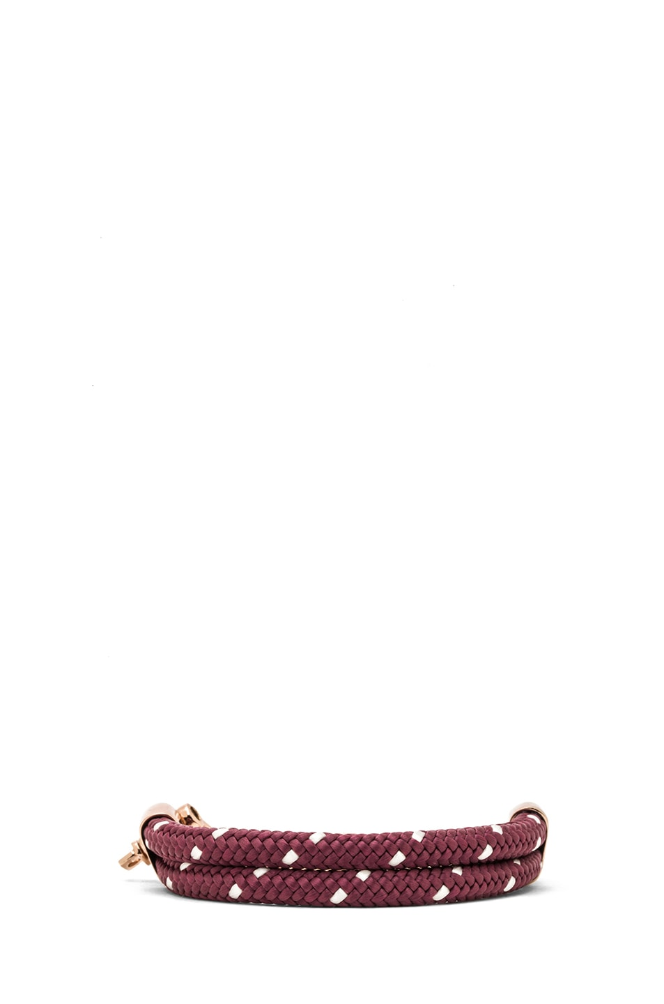 Image 4 of Miansai Karoo Chain on Rope Bracelet in Rose & Burgundy