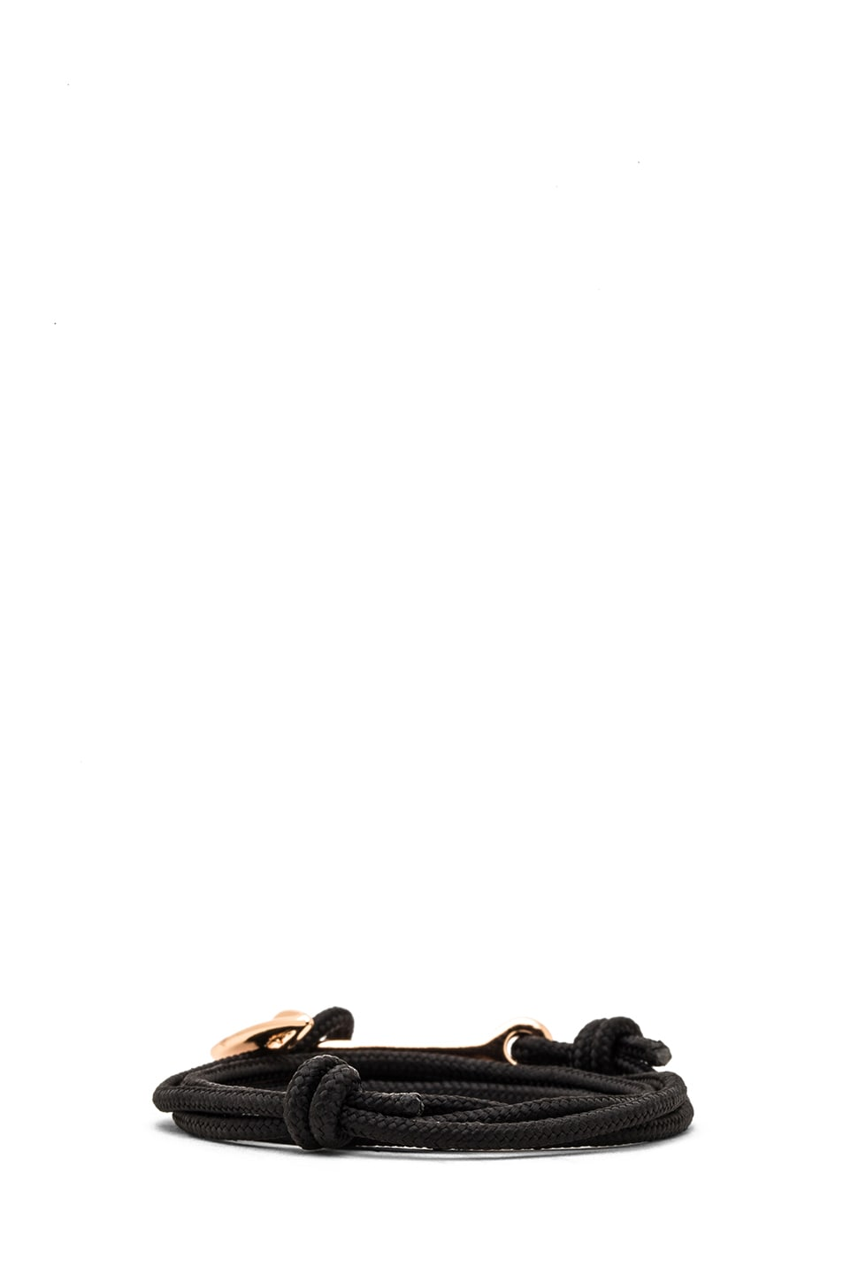 Image 4 of Miansai Anchor Rope Bracelet in Black & Rose Gold