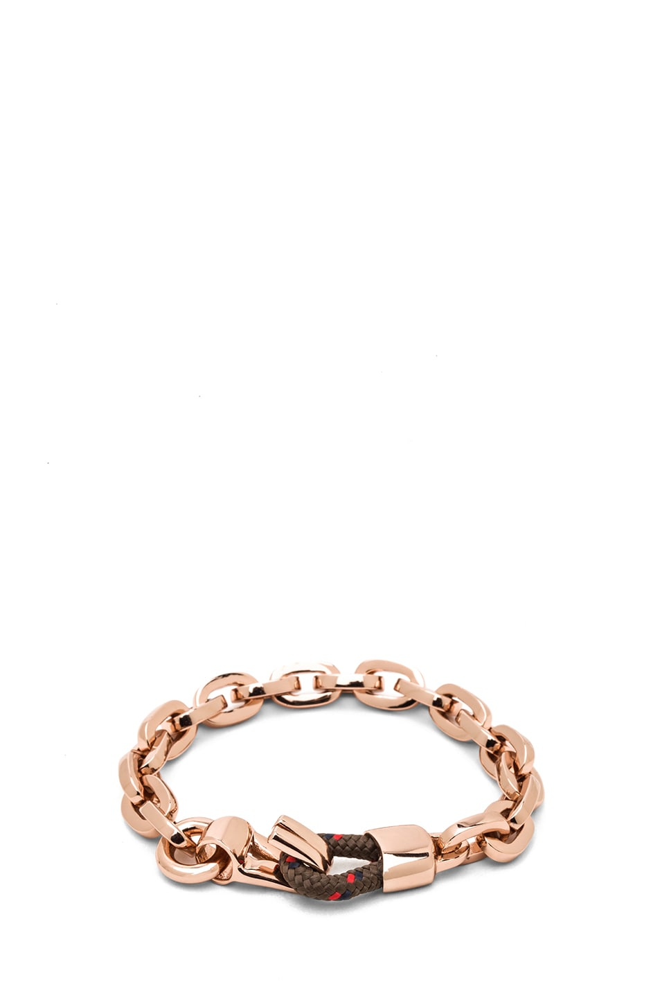 Image 1 of Miansai Nova Chain Bracelet in Rose & Chocolate