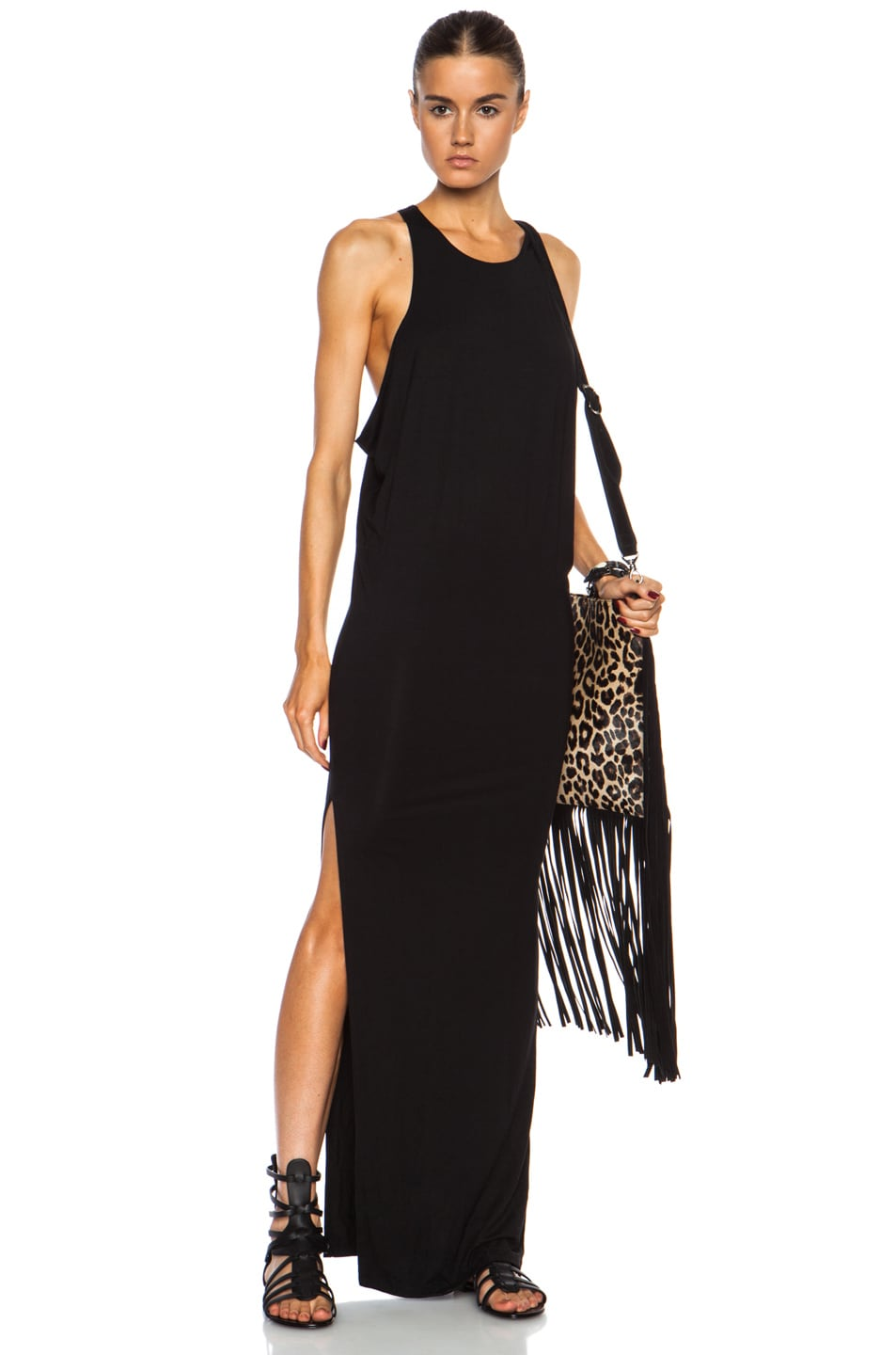 Black High Neck Beach Dress by MIKOH