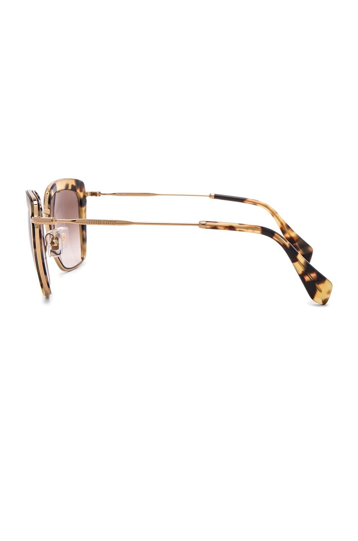 Image 3 of Miu Miu Square Sunglasses in Light Havana