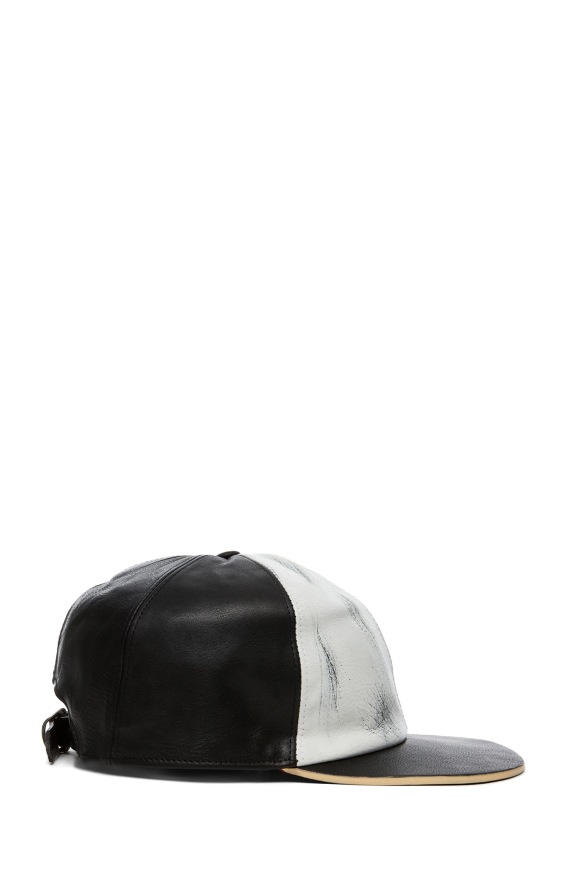 Image 2 of Marc Jacobs Baseball Cap in Black & White