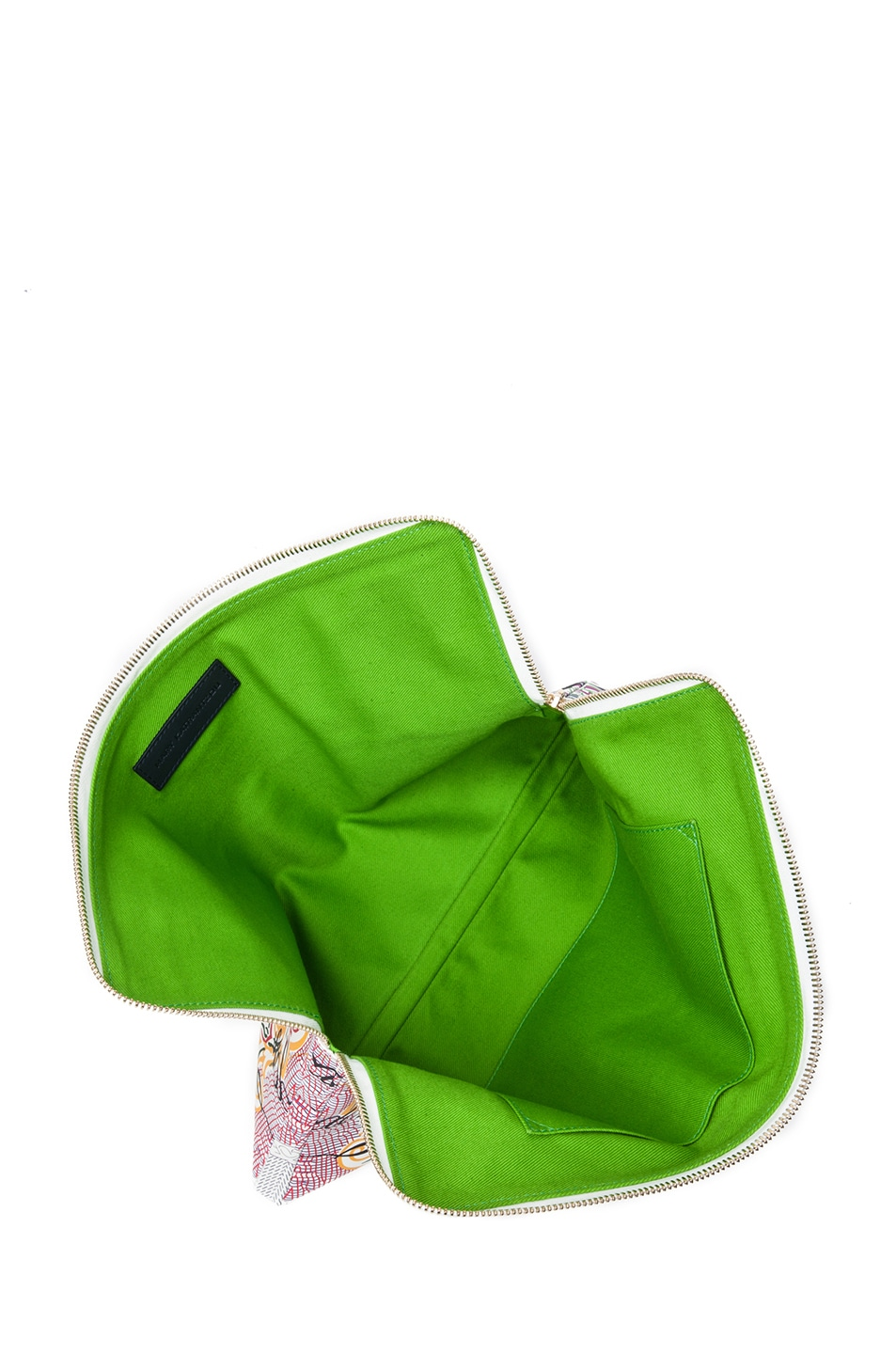 Image 4 of Mary Katrantzou Large Leather Clutch in Pound