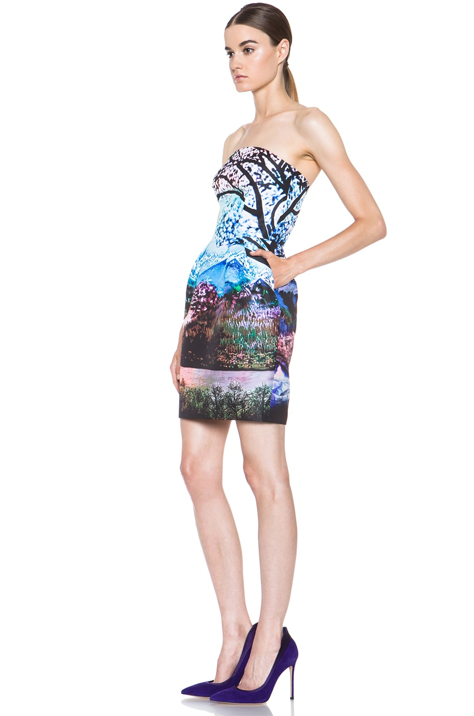 Image 2 of Mary Katrantzou Poly Puff Dress in Fauwi