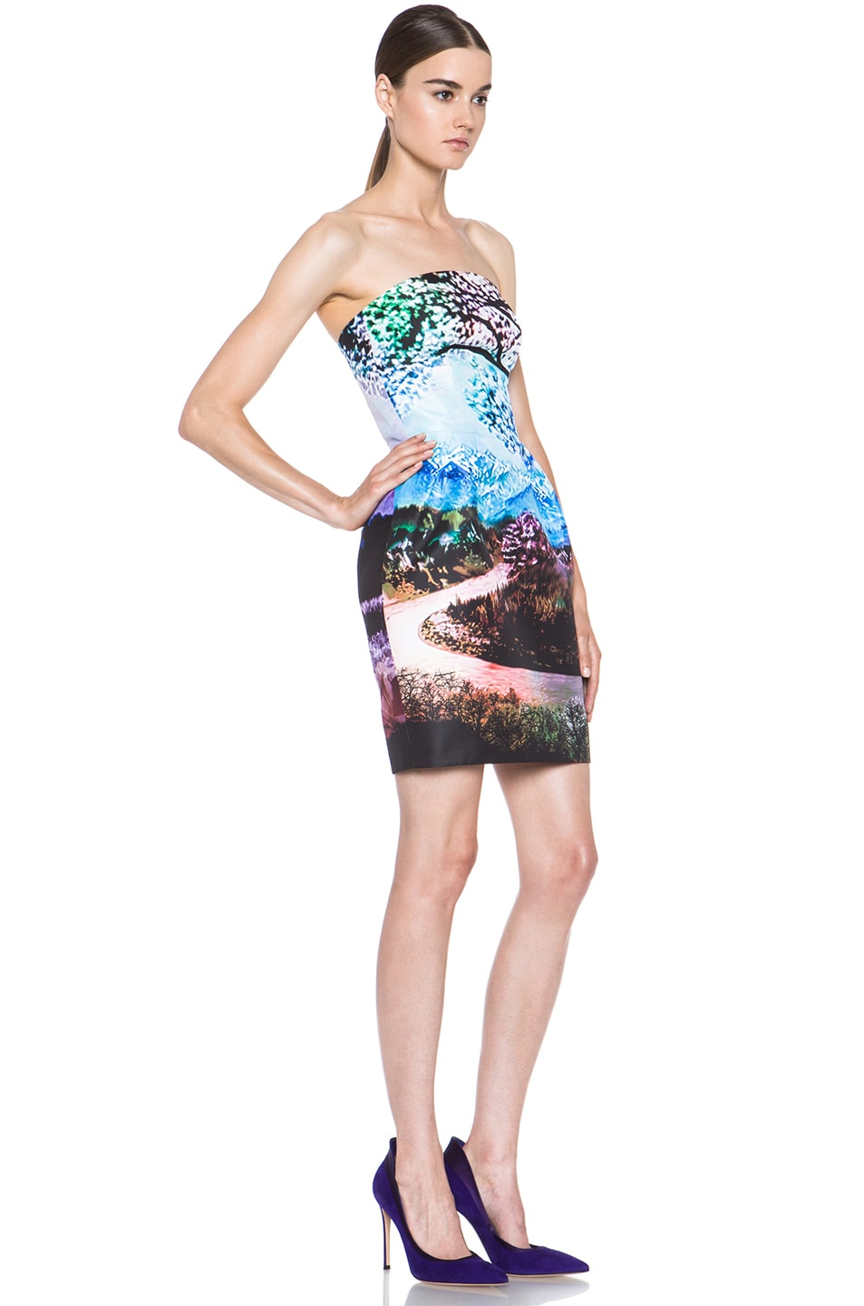 Image 3 of Mary Katrantzou Poly Puff Dress in Fauwi