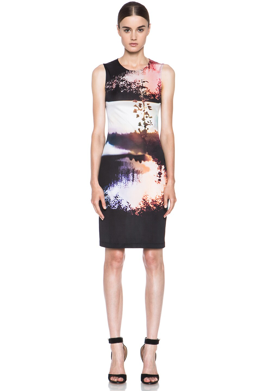 Image 1 of Mary Katrantzou Jersey Dress in Woodstock Sunset