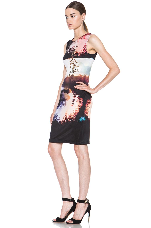 Image 2 of Mary Katrantzou Jersey Dress in Woodstock Sunset