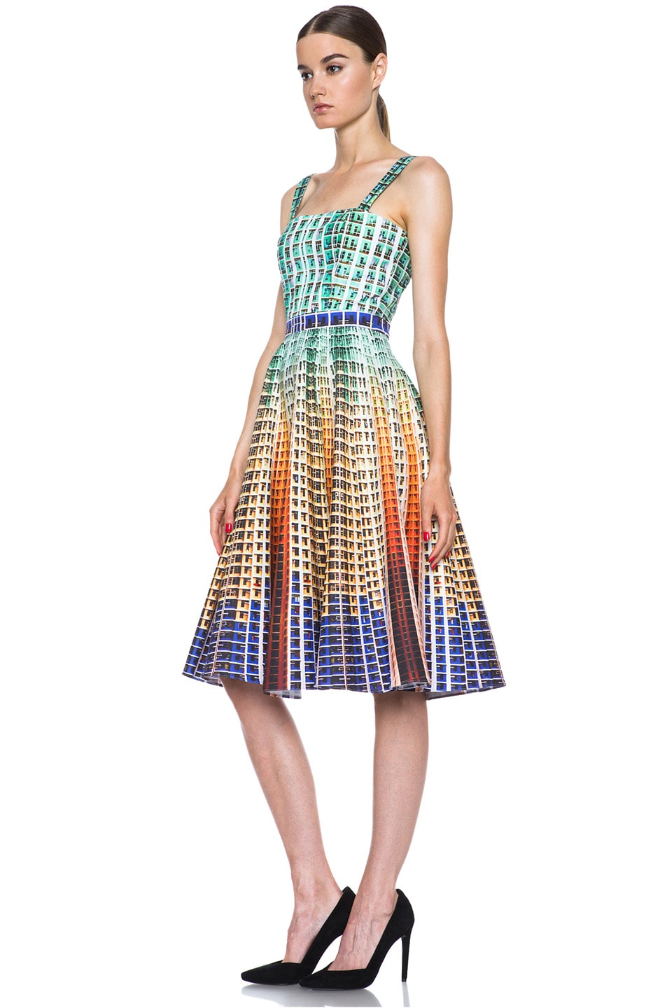 Image 2 of Mary Katrantzou Suddenly Printed Cotton Dress in Suddenly
