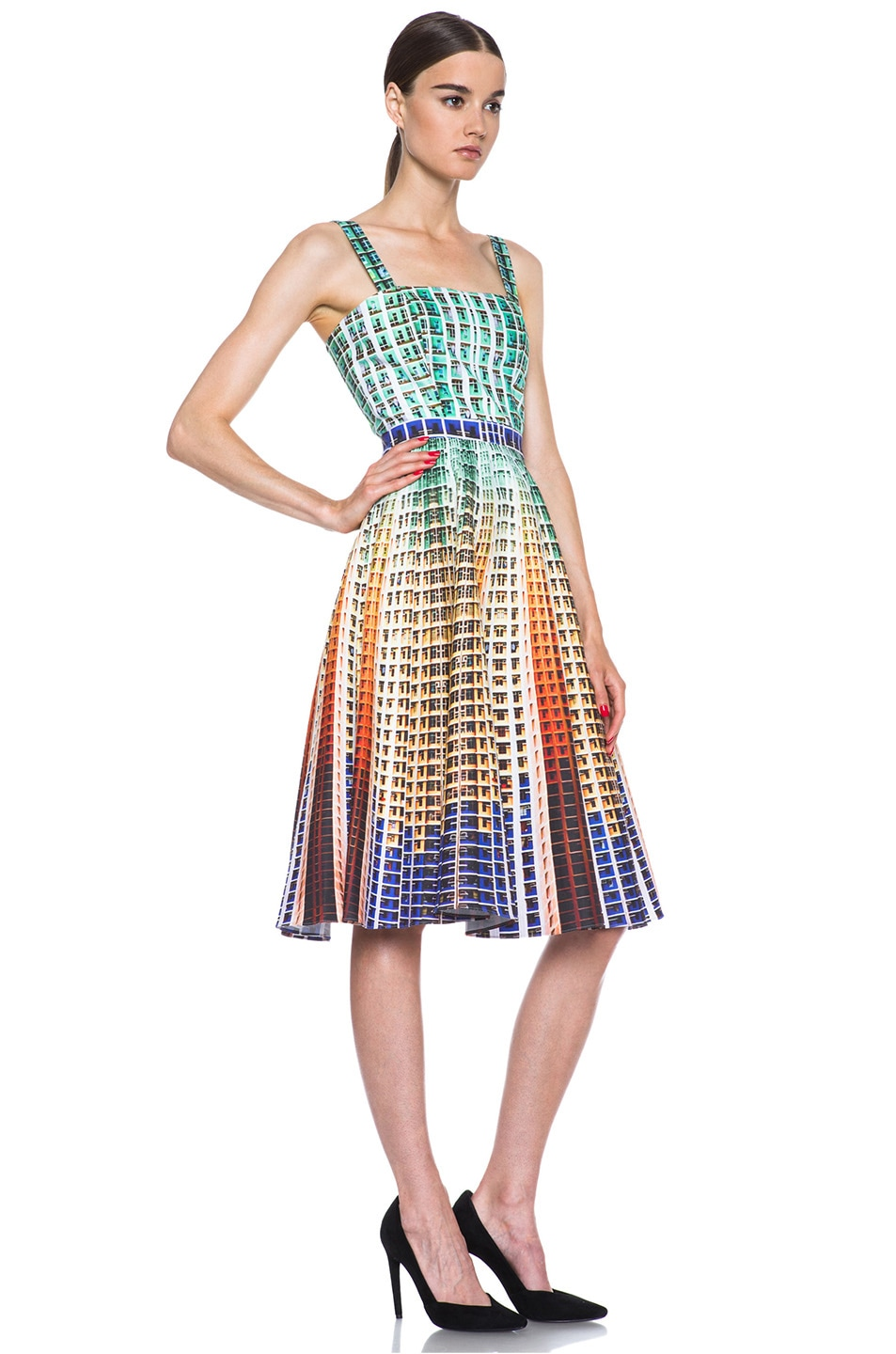 Image 3 of Mary Katrantzou Suddenly Printed Cotton Dress in Suddenly