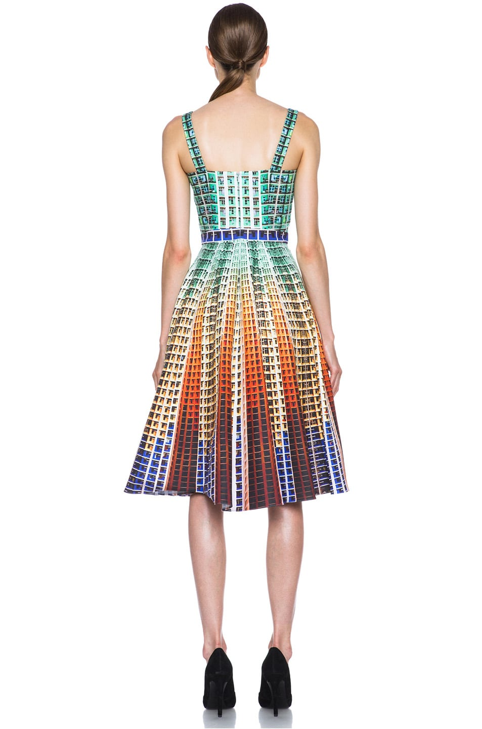 Image 4 of Mary Katrantzou Suddenly Printed Cotton Dress in Suddenly