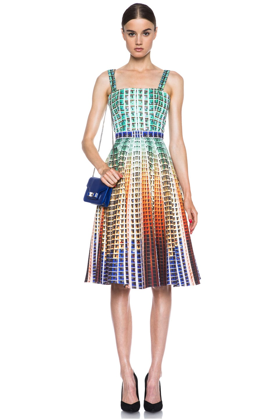Image 5 of Mary Katrantzou Suddenly Printed Cotton Dress in Suddenly