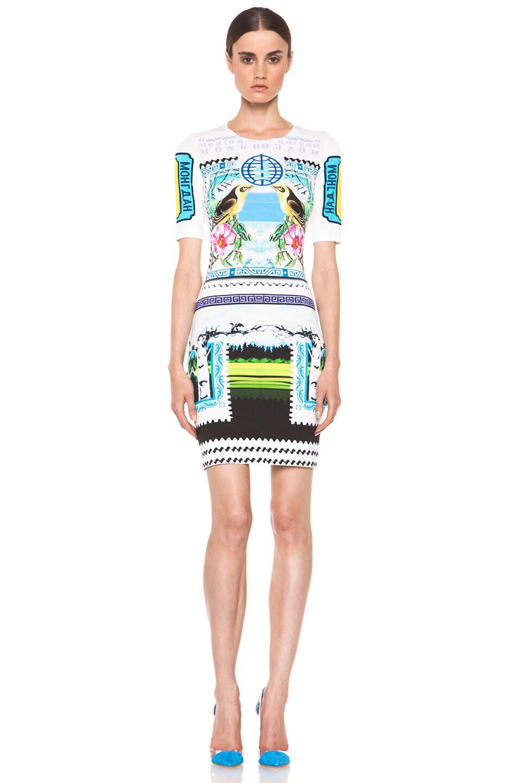 Image 1 of Mary Katrantzou Jersey Short Sleeve Dress in Rodizio
