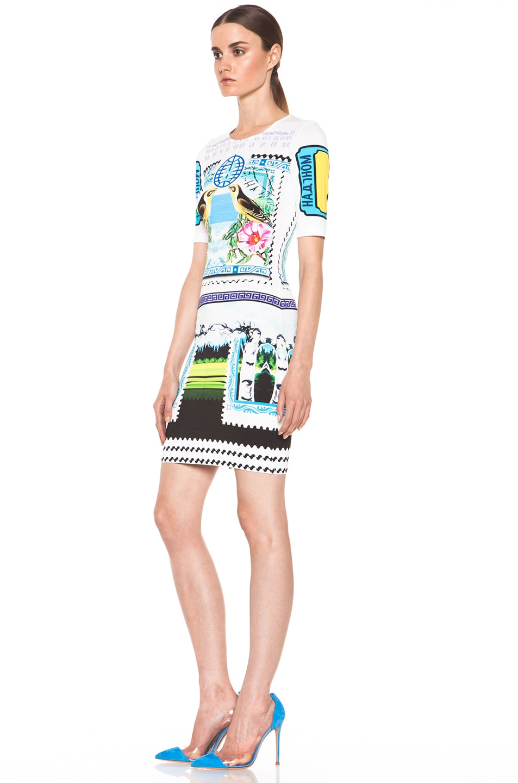 Image 2 of Mary Katrantzou Jersey Short Sleeve Dress in Rodizio