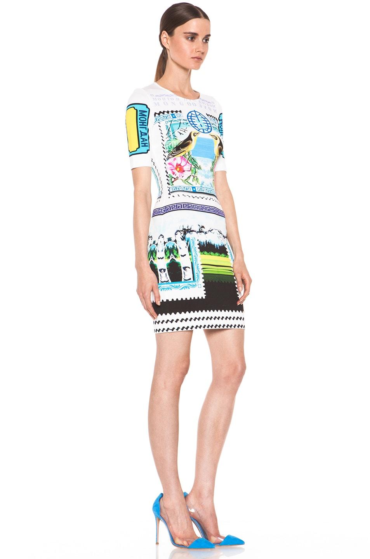 Image 3 of Mary Katrantzou Jersey Short Sleeve Dress in Rodizio