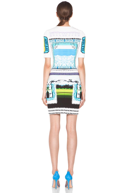 Image 4 of Mary Katrantzou Jersey Short Sleeve Dress in Rodizio