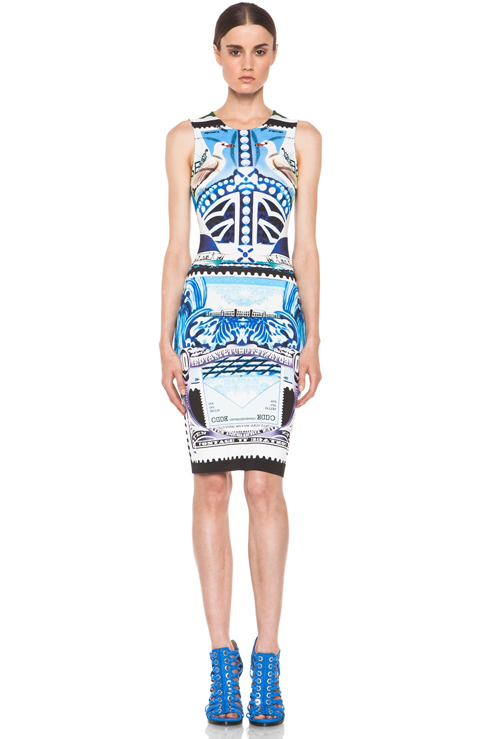 Image 1 of Mary Katrantzou Jersey Sleeveless Dress in Starsailor