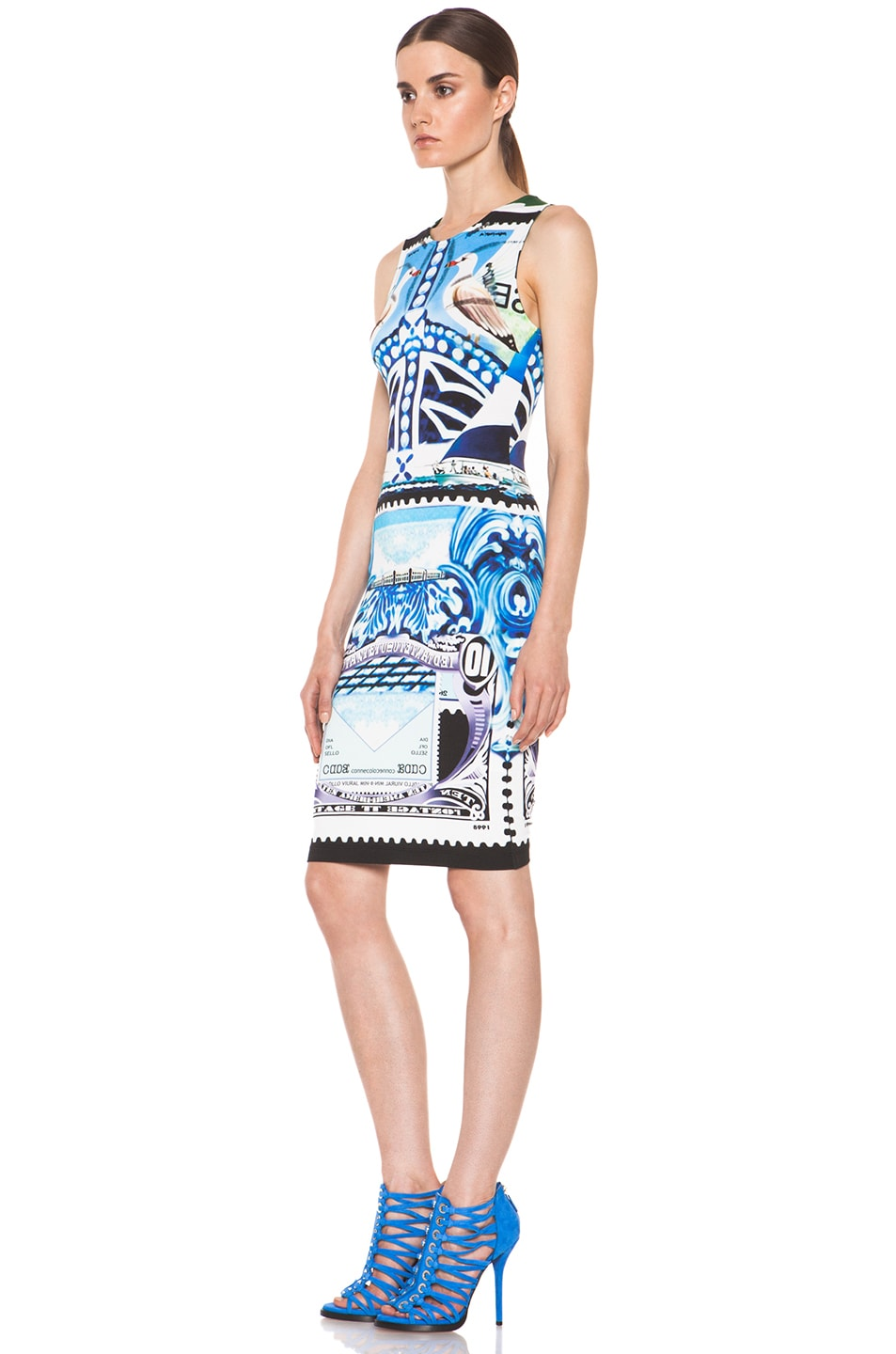 Image 2 of Mary Katrantzou Jersey Sleeveless Dress in Starsailor