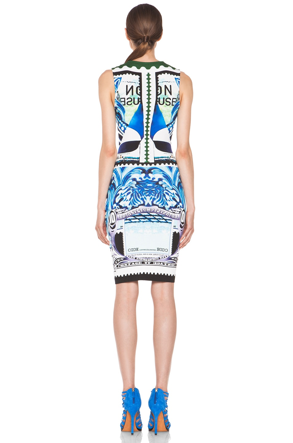 Image 4 of Mary Katrantzou Jersey Sleeveless Dress in Starsailor
