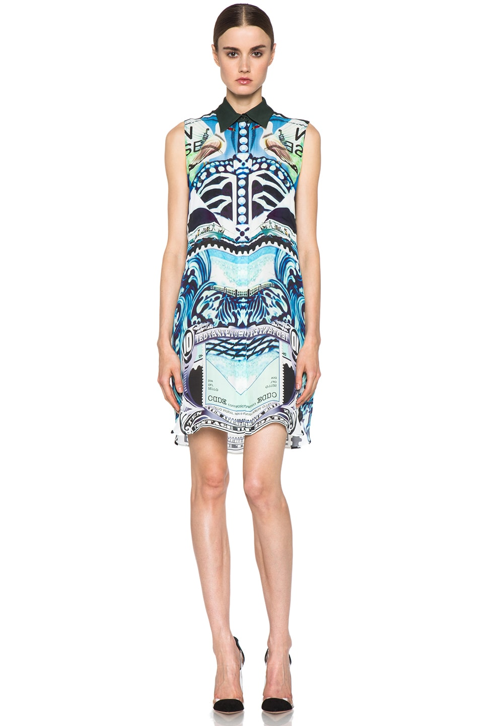 Image 1 of Mary Katrantzou Gloria Silk Blouse Dress in Starsailor