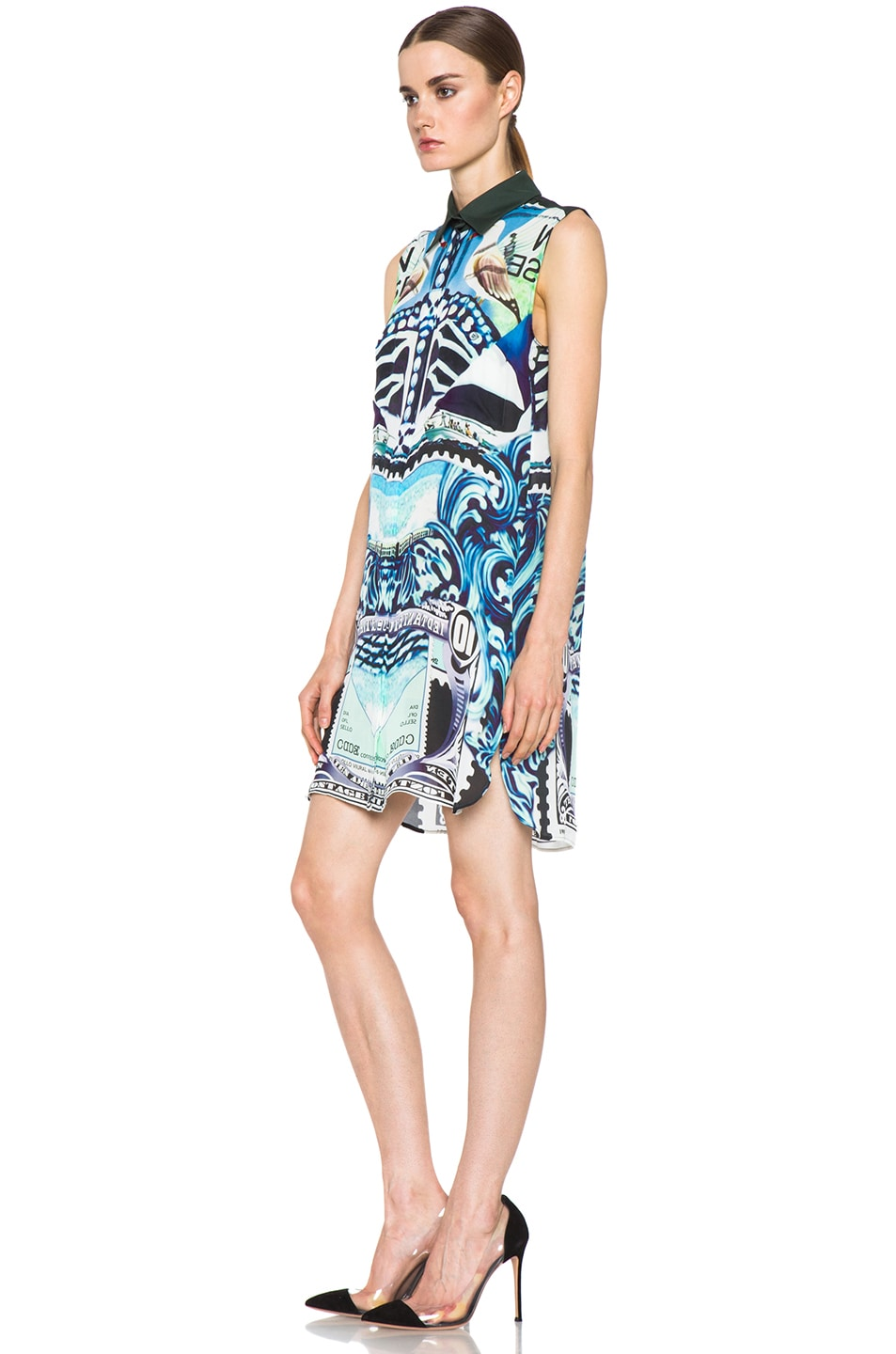 Image 2 of Mary Katrantzou Gloria Silk Blouse Dress in Starsailor