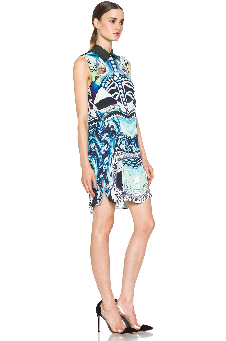 Image 3 of Mary Katrantzou Gloria Silk Blouse Dress in Starsailor