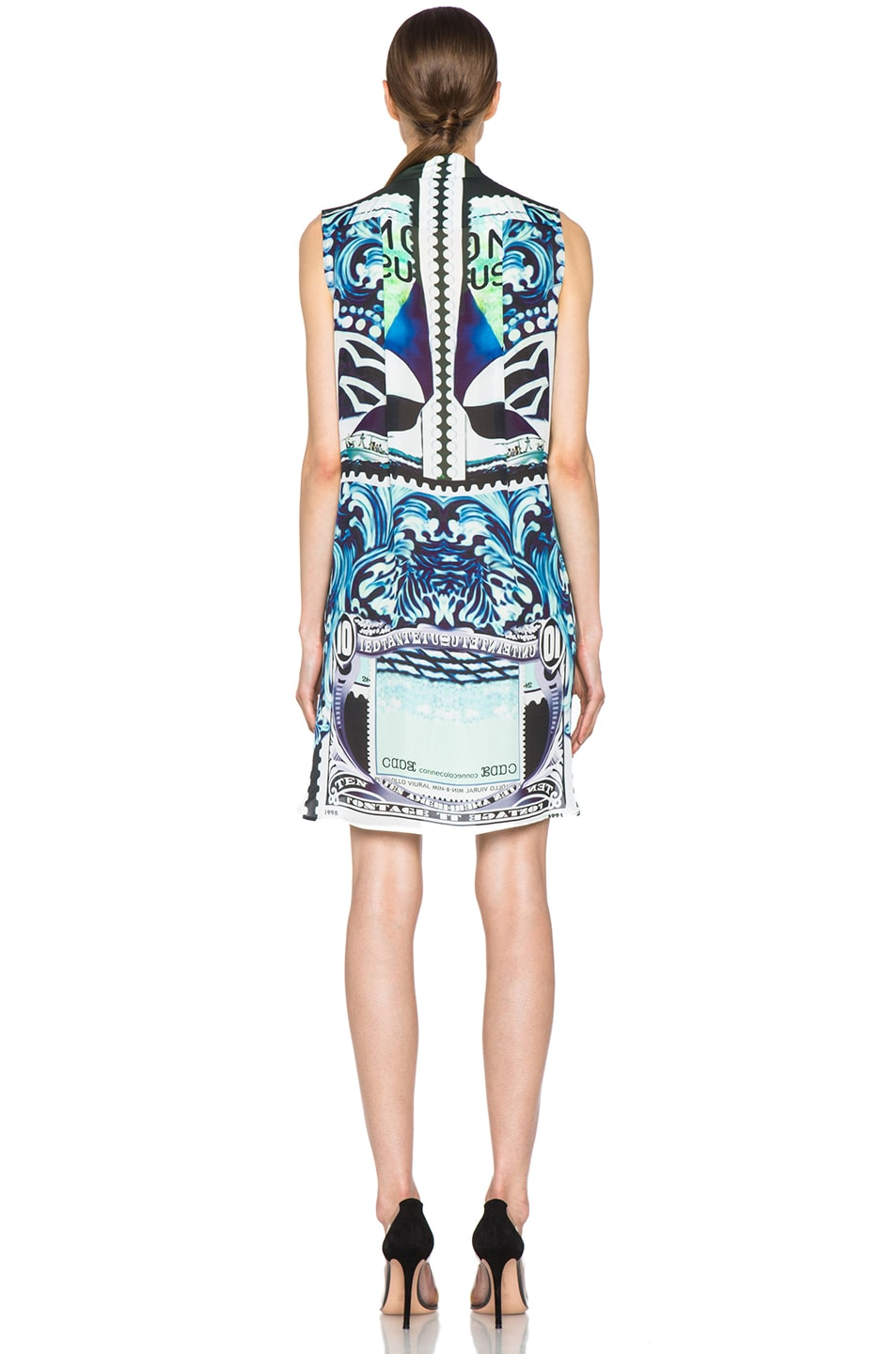 Image 4 of Mary Katrantzou Gloria Silk Blouse Dress in Starsailor