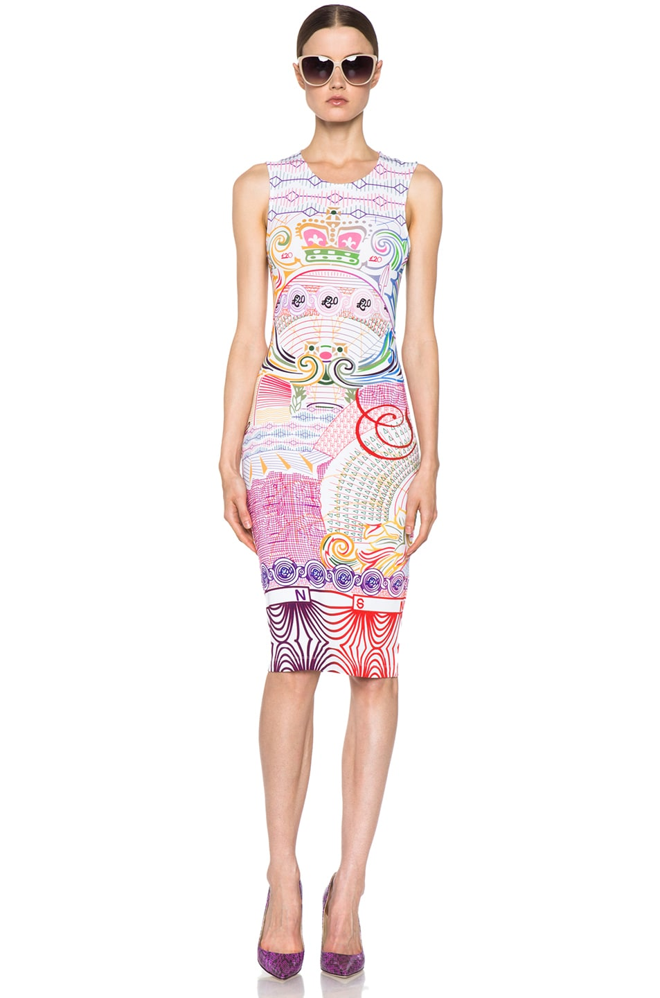 Image 1 of Mary Katrantzou Jersey Dress in Pound