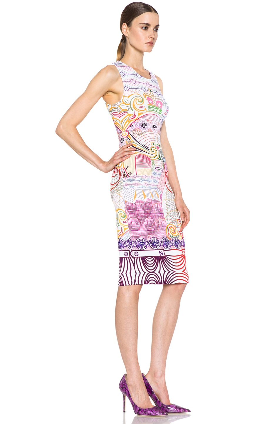 Image 3 of Mary Katrantzou Jersey Dress in Pound