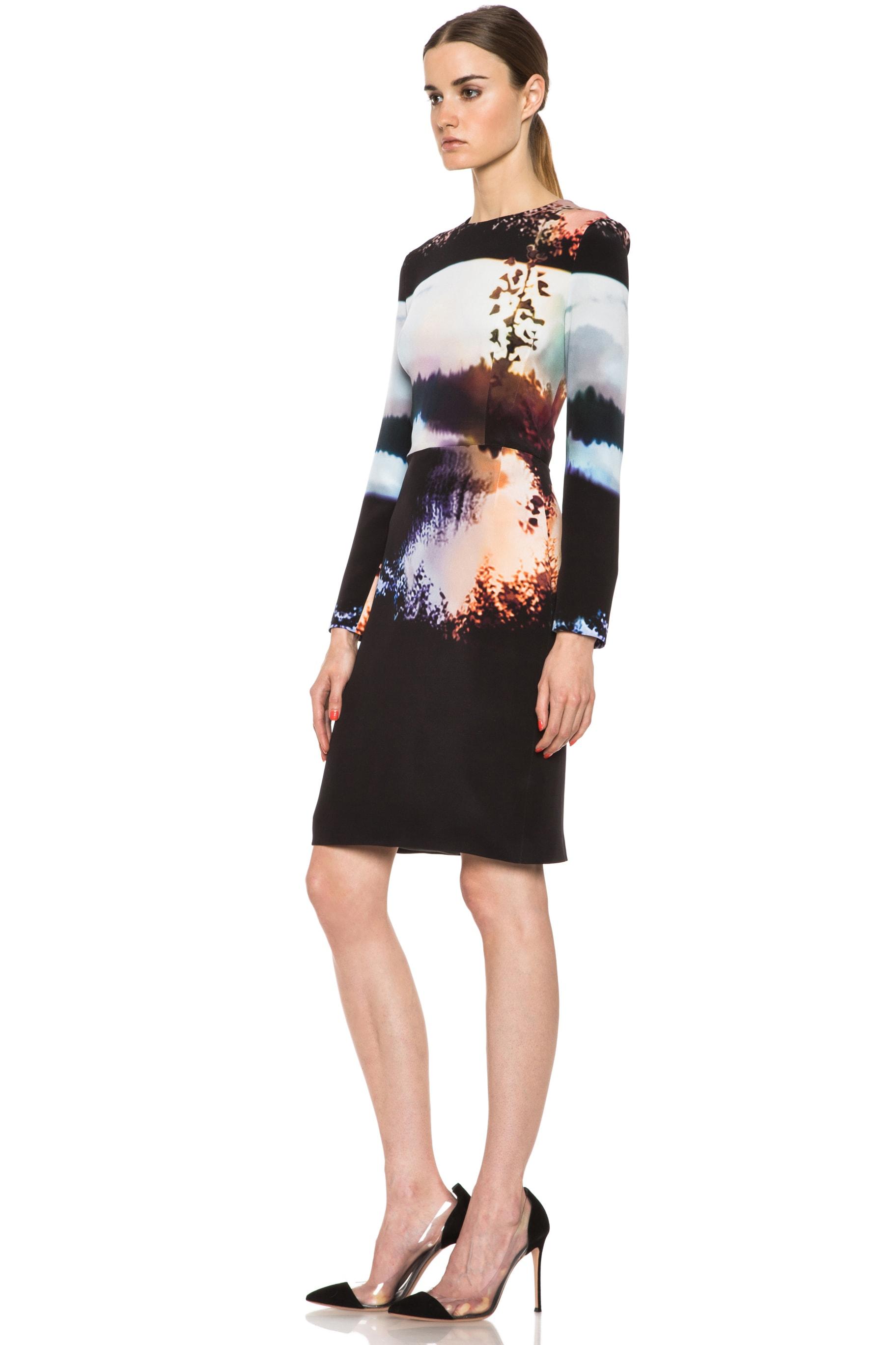 Image 2 of Mary Katrantzou Silk Dress in Woodstock Sunset