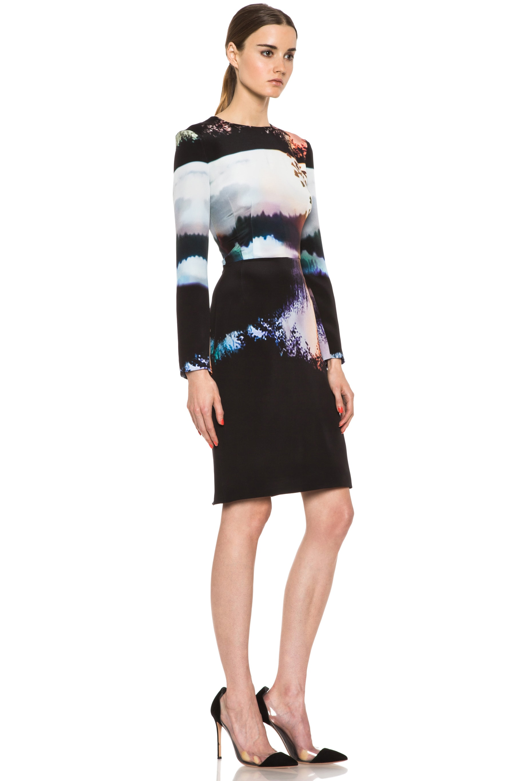 Image 3 of Mary Katrantzou Silk Dress in Woodstock Sunset